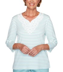 alfred dunner petite cottage charm striped top
