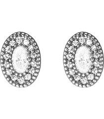 orecchini in argento 925 rodiato e zirconi per donna