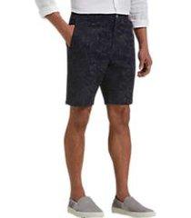 joseph abboud black paisley modern fit shorts