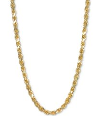 "italian gold 26"" rope chain necklace in 14k gold"