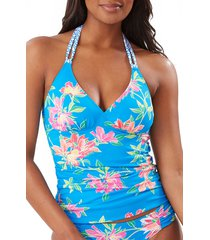 women's tommy bahama sun lilies reversible halter tankini top