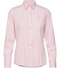 the broadcloth striped shirt overhemd met lange mouwen roze gant