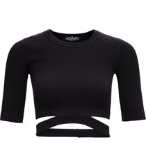 andrea adamo black ribbed knit sweater