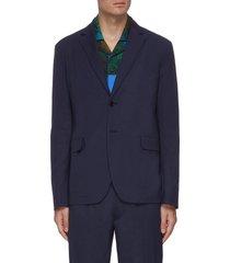 notch lapel cotton blazer