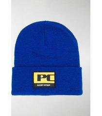 paccbet logo patch beanie hat