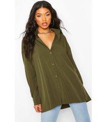 extreme oversized blouse, kaki