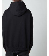 maison margiela men's compact hoodie - black - it 48/m