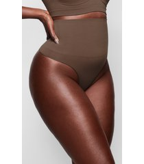 women's skims core control thong, size large/x-large - brown
