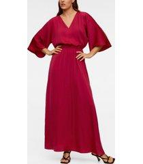 mango elastic waist long dress