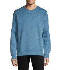 ribbed cotton-blend sweatshirt