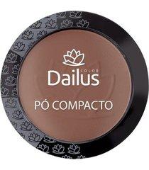 pó compacto dailus - new 12 - marrom médio