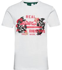 vl rising sun tee t-shirts short-sleeved vit superdry