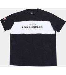camiseta plus size industrie los angeles masculina - masculino