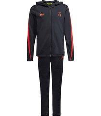 adidas trainingspak x tracksuit kids black red