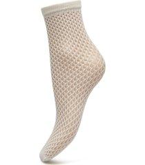 vera net sock micro net lingerie socks footies/ankle socks creme swedish stockings
