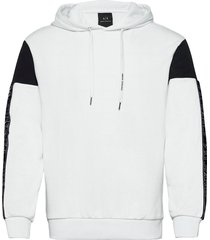 armani exchange sweatshirt hoodie vit armani exchange