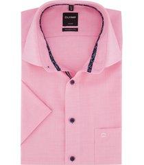 korte mouwen overhemd olymp roze