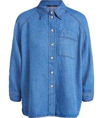 denim overhemd ally  blauw