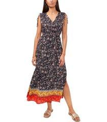 vince camuto floral divine drawstring-shoulder maxi dress