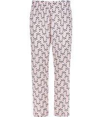 pantalón descanso mapaches color rosado, talla xs