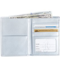 bi-fold passport rfid leather wallet