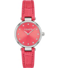 women's coach park leather strap watch, 26mm