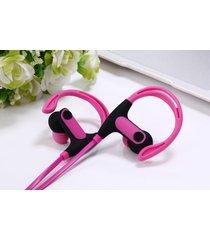 audífonos bluetooth deportivos inalámbricos, st-008 auricular inalámbrico cancelación de ruido estéreo manos libres con micrófono (rosa)