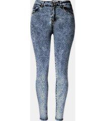 pantaloni a vita alta in jeans slim stretch