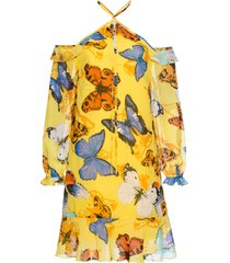 abito con volant (giallo) - bodyflirt boutique