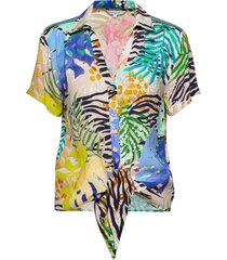 cam cremona blouses short-sleeved multi/patroon desigual
