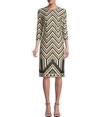 eastern luxe becket chevron dress