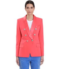 balmain blazer in rose-pink viscose