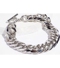 womens don't wrist the truth chunky chain bracelet - silver