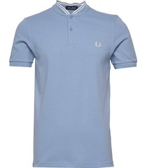 bomber collar pique t-shirts short-sleeved blå fred perry