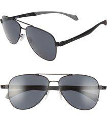 boss 1077/s 60mm aviator sunglasses in matte black at nordstrom