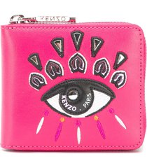 kenzo embroidered eye wallet - fuxia
