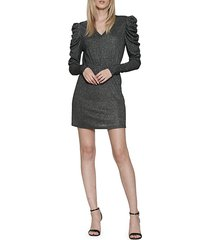 leg-of-mutton-sleeve mini dress