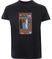 80s casuals wardrobe t-shirt - navy