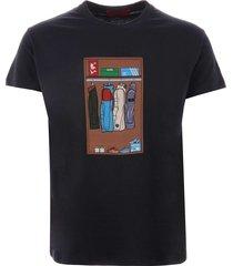 80s casuals wardrobe t-shirt - navy