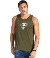 camiseta vlcs regata gola redonda verde - verde - masculino - algodã£o - dafiti