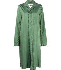 jil sander notch-lapel a-line coat - green