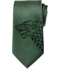 game of thrones stark direwolf men's tie