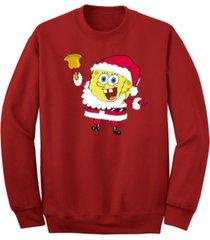men's spongebob santa crew fleece sweatshirt