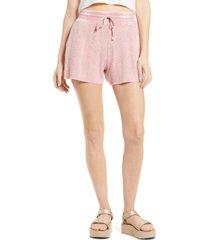 women's splendid mineral wash shorts, size x-large - pink
