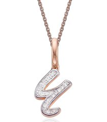 women's monica vinader diamond initial pendant charm