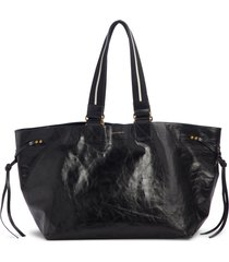 isabel marant wardy new leather shopper tote - black