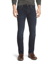 men's 34 heritage courage straight leg jeans, size 34 x 32 - blue