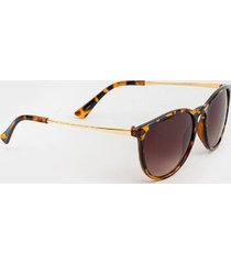 heidi basic round sunglasses - tortoise