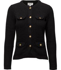 jacket stickad tröja cardigan svart davida cashmere