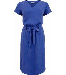 jurk garment dye kobalt